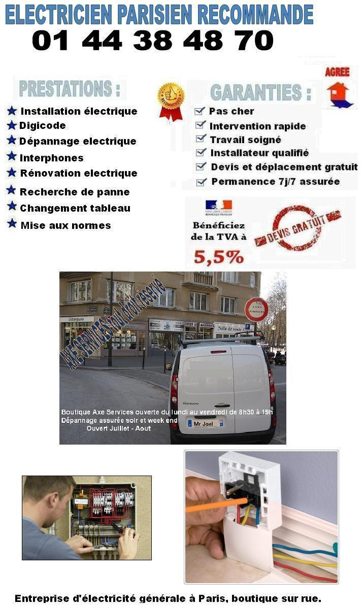 Electricien Paris 16 : electricien paris 16 familial au 01 44 38 79 60 ~ Premium-room.com Idées de Décoration